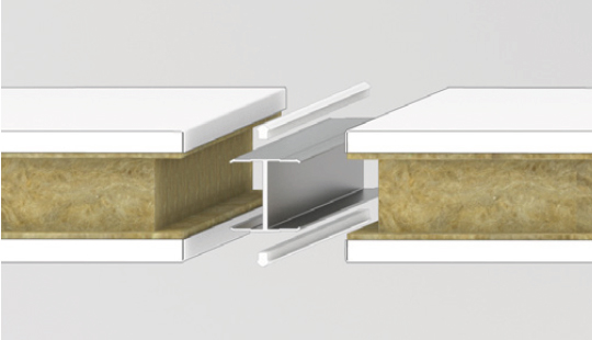 Wall connector with H-connector and silicone bead