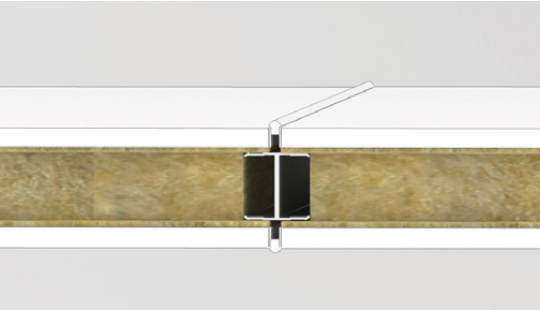 Wall joint with 3 mm joint
